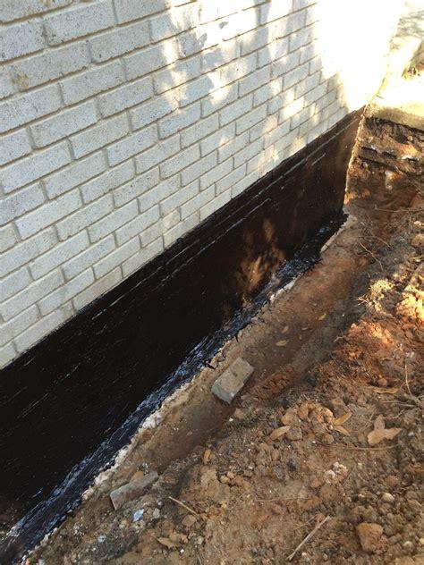 basement waterproofing exterior waterproofing job