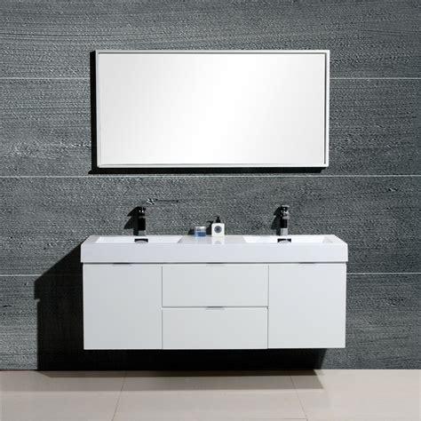kube bath bliss  double wall mount modern bathroom