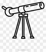 Colorear Telescope Coloring Telescopio Dibujo sketch template