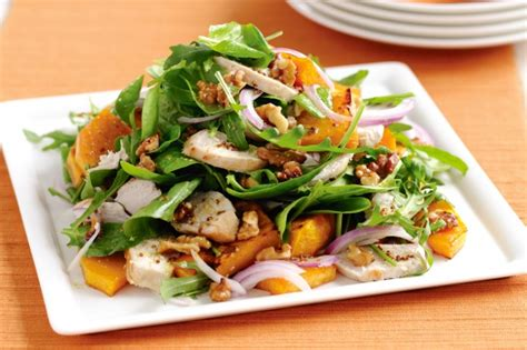 Cooking Light Pumpkin Bread by Maple Roasted Pumpkin And Chicken Salad Recipe Taste Com Au