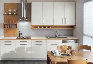 Cuisine Blanche Plan De Travail Bois : cuisine blanche contemporaine en 75 jolies photos ~ Preciouscoupons.com Idées de Décoration
