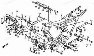 Honda Motorcycle 1986 Oem Parts Diagram For Frame    Oil Cooler