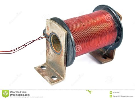 Electric Motor Coil by Electric Coil Motor Royalty Free Stock Image Image 30792636
