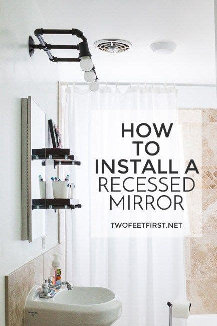 .x 36 inch | recessed or surface mount mirror cabinet w/dimmer & defogger + 3x makeup mirror inside the backlit vanity mirror with defogger, means your hygiene and dress will be impeccable. Install a Recessed Vanity Mirror | Swivel tv stand, Tv ...