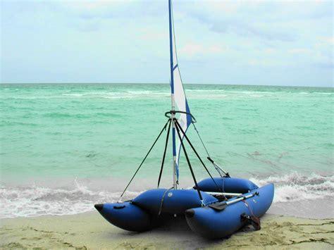 Sailing Catamaran Ebay by 12 Inflatabale Sailing Catamaran Fishing Pontoon Boat Ebay