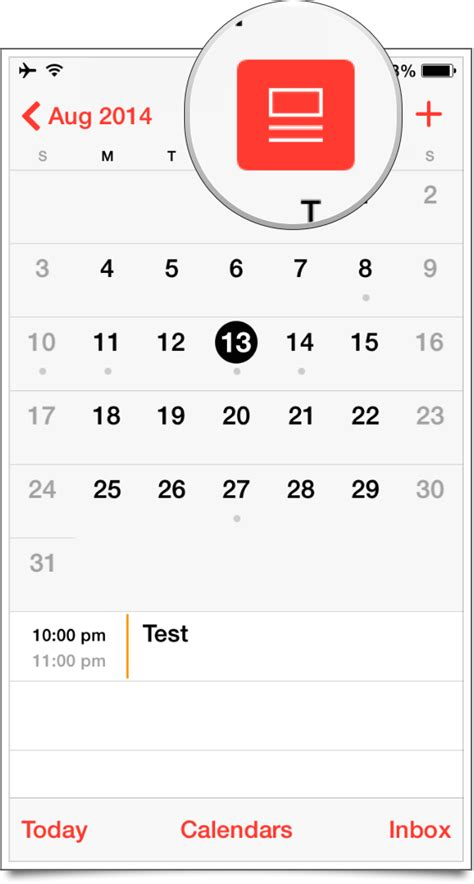 iphone calendar view how to access the event list view in calendar app on ios 7 1