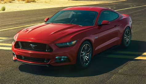 race red 2015 ford mustang gt fastback mustangattitude