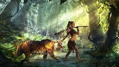 4k Tiger Guardian Wallpapers Backgrounds Deviantart Digital