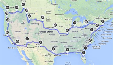 Cross Country Motorcycle Tours Usa