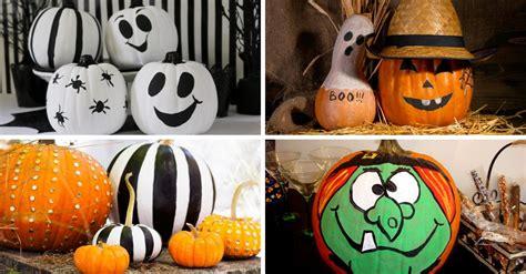 calabazas de halloween  ideas  decorar calabazas