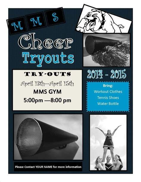 cheerleading tryout template cheerleading pinterest