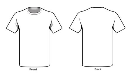 T Shirt Blank Template by Blank Tshirt Template Front Back Side Kjm In 2019 T