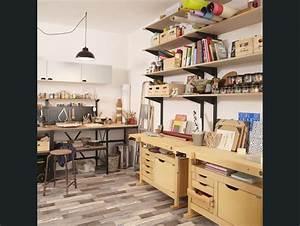 Aménagement Atelier Garage : atelier cave garage blanc beige naturel outifrance bureau pinterest rangement tiroir ~ Melissatoandfro.com Idées de Décoration