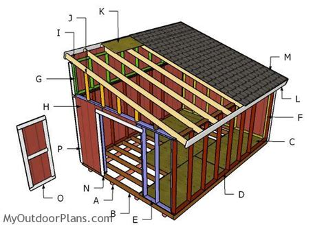 how to build a lean to shed 12x16 lean to shed roof plans myoutdoorplans free