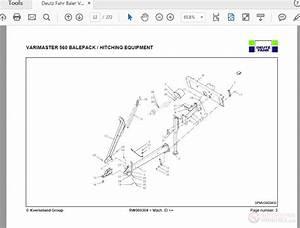 Deutz Fahr Baler Varimaster 560 Spare Parts Manual