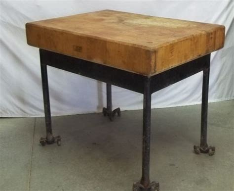 kitchen island legs metal chopping block wood table top steel metal legs industrial