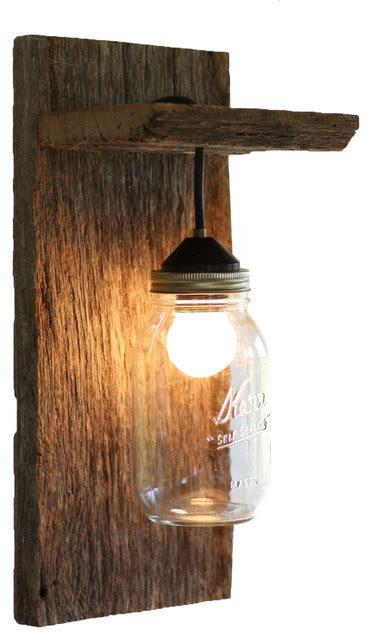 barn jar light fixture rustic wall sconces by grindstone design