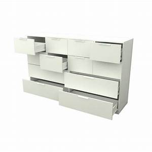 Commode 160 Cm : billund commode 12 tiroirs 160cm blanc achat vente commode pas cher couleur et ~ Teatrodelosmanantiales.com Idées de Décoration