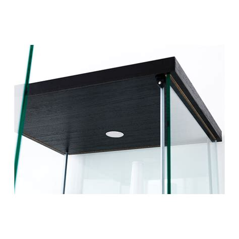 detolf glass door cabinet black brown 43x163 cm ikea