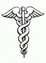 Medical Coloring Symbol Caduceus Doctor Stethoscope Pages Medicine Dr Tools Eye Template Bazile Sponsors sketch template