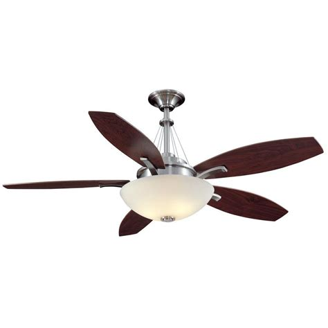 hton bay brookedale 60 quot ceiling fan brushed nickel