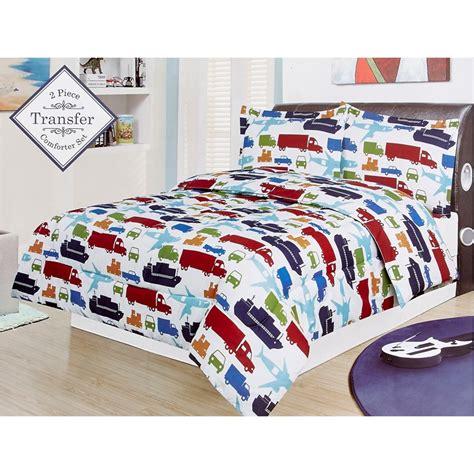 vehicle print 3 piece full bedding set 611655169