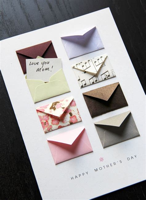 mothers day card tiny envelopes  custom messages