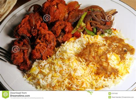 biryani indian cuisine indian biryani food with chicken masala stock photo