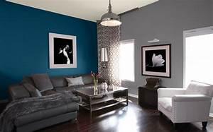 salon idees peinture couleurs sico With marvelous bleu turquoise avec quelle couleur 9 deco salon prune et gris