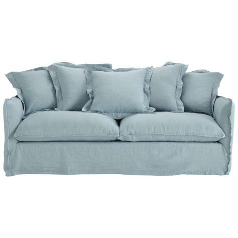 canapé payer en 4 fois canapé 3 4 places convertible lavé bleu grisé