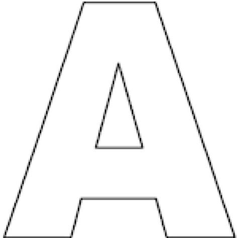 Letter A Template by Here S A Set Of Printable Alphabet Letters To And