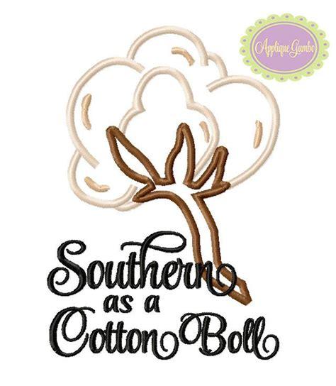 bol l design southern as a cotton boll machine embroidery applique