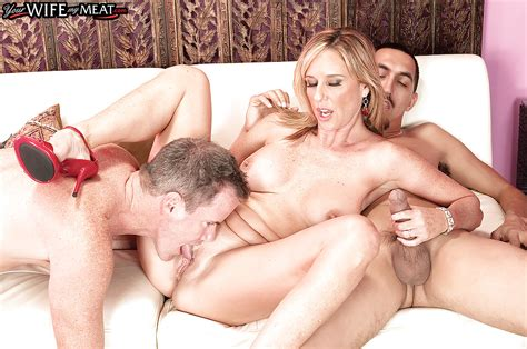 Blonde Milf Jodi West Amazing Sex With Two Guys In Rough