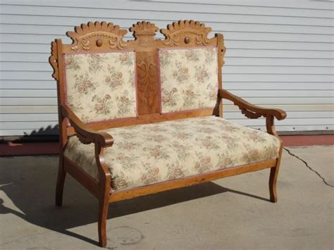 Antique Benches And Settees by Eastlake Sofa Vintage Eastlake Style Settee Upholstered In
