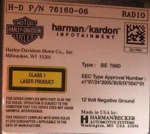 Harman  Kardon Radio  76160-06