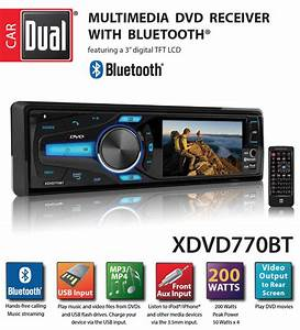 Dual Electronics Xdvd770bt 3 7 Inch Full Color Multi