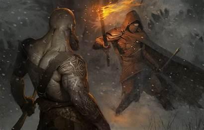 God War Wallpapers Kratos Artwork 4k Ps4