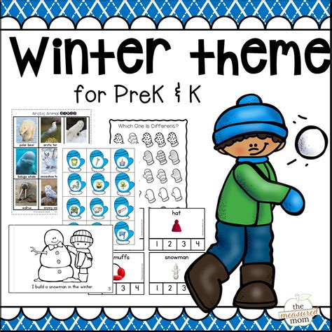 new winter theme pack for preschool amp kindergarten the 410 | winter theme