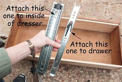 Drawer Slides Dresser Install Wood Strip Finishes