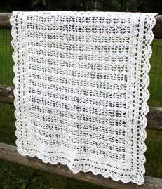 hairpin lace crochet crocheted baby blanket big a a