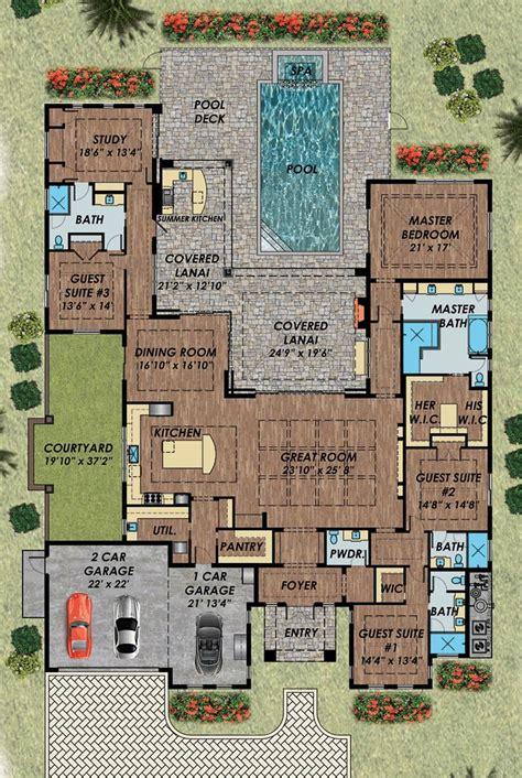 florida mediterranean house plan   study house  layout