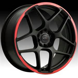 Red and Black Custom Rims