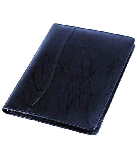 black leatherite document folder buy