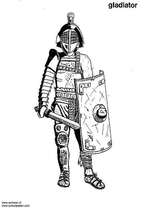 coloring page gladiator img
