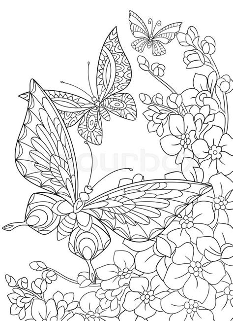 stock vector  zentangle stylized cartoon butterfly