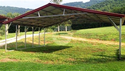 3 Car Metal Carport by 26x21x6 Vertical Style Wide Carports 3 Car Metal