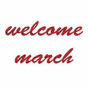 Welcome March | delicious to c