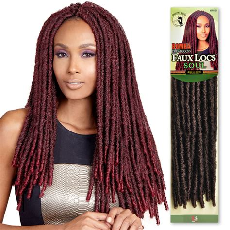 Bobbi Boss Synthetic Hair Crochet Braids Bomba Dreadlocks Faux Locs Soul - SamsBeauty