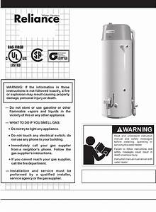 Download Reliance Water Heaters Water Heater 317775