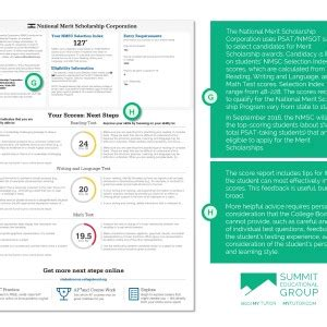 psat score report guidepage summit educational group